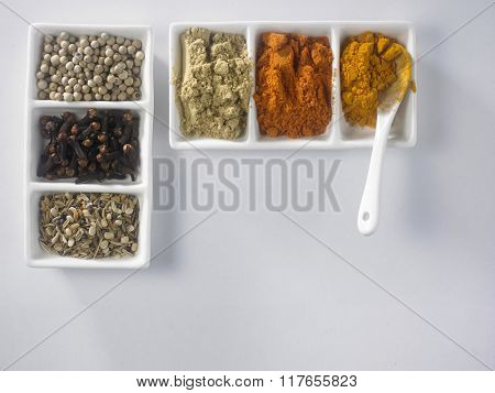 top view of coriander powder
