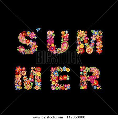 Summer flowers. Fashion print