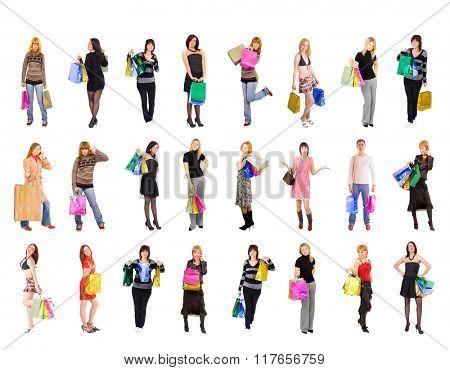 Women Shopping Crowd of Shoppers