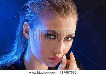 Portrait Of Sensual Woman.