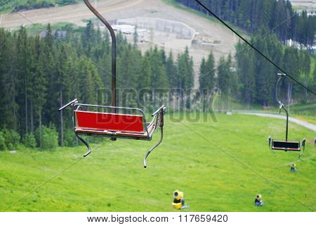 Benches On The Cable Car
