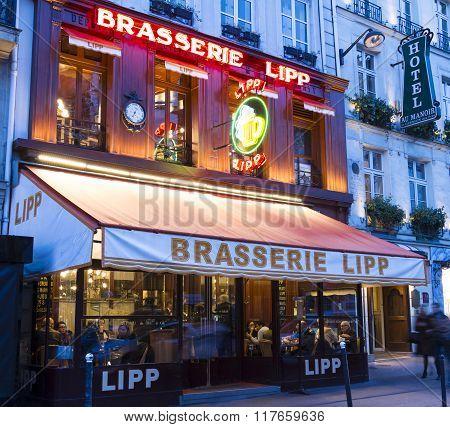 The Brasserie Lipp, Paris, France.