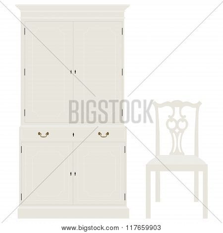 Cabinet And Chair