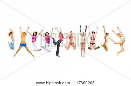 People Celebrating Winning Idea