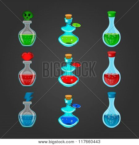 Set Bottles With Different Potions-2