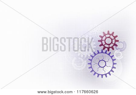 Backdrop with gears and cogwheels