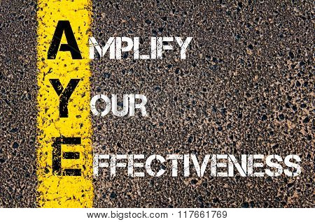 Business Acronym Aye Amplify Your Effectiveness