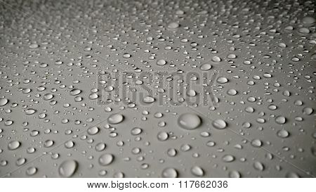 Water Drops On Car Background