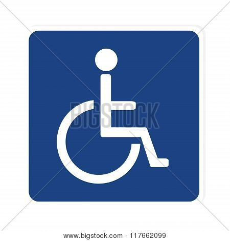 Blue Disabled Sign