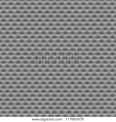 Seamless abstract metal background embossed surface oval recess