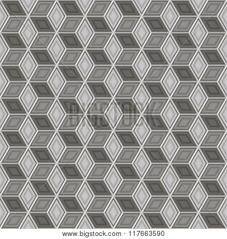Seamless abstract 3D pattern - cubes in a skeleton of wire.