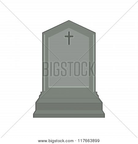 Grey Gravestone With Cross
