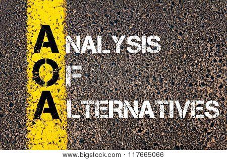 Business Acronym Aoa Analysis Of Alternatives