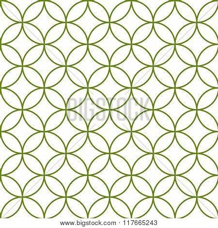 Seamless Abstract Intersecting And Repeating Modern Green Circles