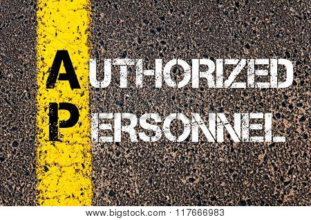 Business Acronym Ap Authorized Personnel