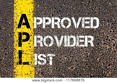Business Acronym Apl Approved Provider List