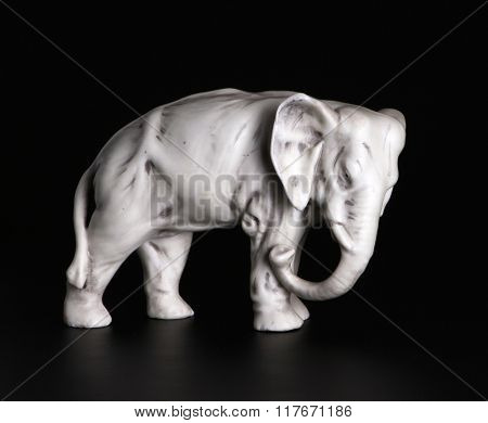 Statuette Elephant Xix Century (roasting On A Biscuit).