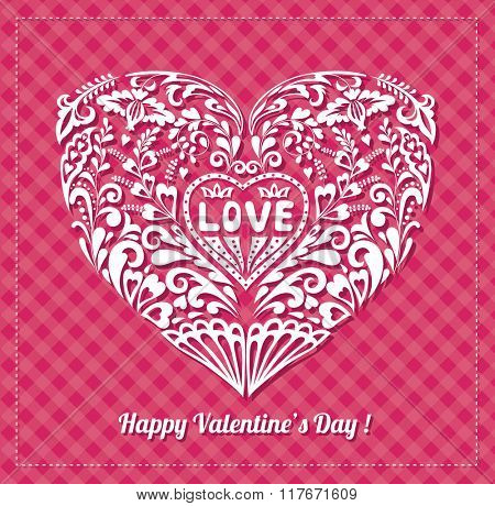 Valentine's Day Greeting Card. Romantic Background.