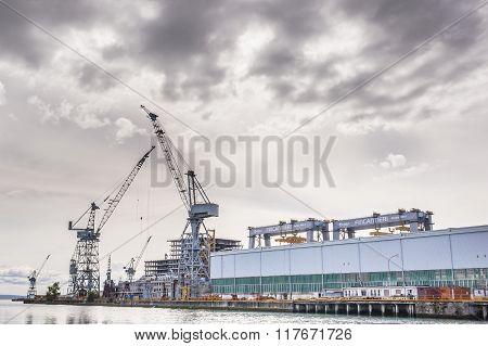 Shipyard Of Fincantieri.