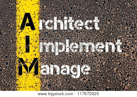 Business Acronym Aim Architect Implement Manage