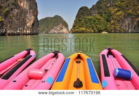 Canoes at Panyee island, Thailand