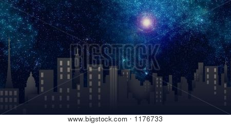 Illustration, Background, City, Buildings
