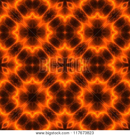 Seamless Fiery Pattern For Carpet Or Floor Tiles