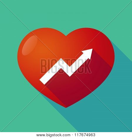 Long Shadow Red Heart With A Graph