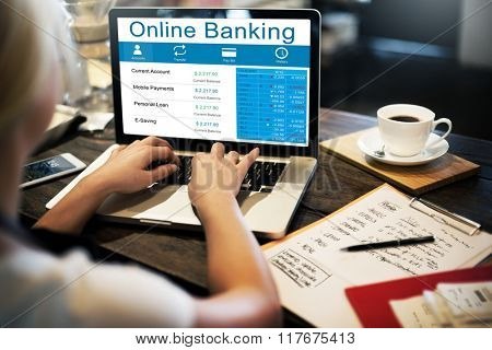 Online Banking Technology Ecommerce Commercial Concept