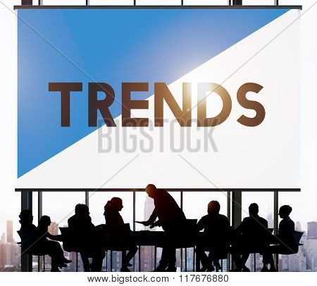Business People Meeting Trends New Modern Concept