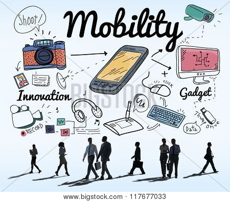 Mobility Smartphone Communication Technology Concept