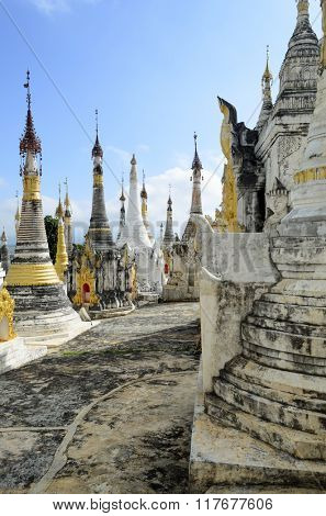Shwe Idein Pagoda near Inle Lake, Shan state, Burma (Myanmar)