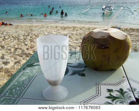 Coconut drinks at the beach