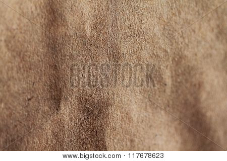 Recyled paper of brown colour close up