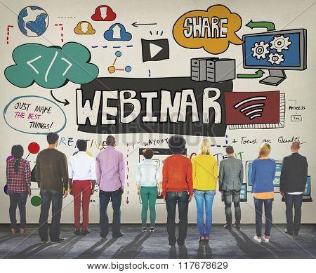 Webinar Web Seminar Technology Online Concept