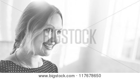 Businesswoman Cheerful Smiling Beautiful Smart Concept