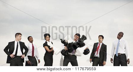 Business Team Duty Unfair Responsibility Concept