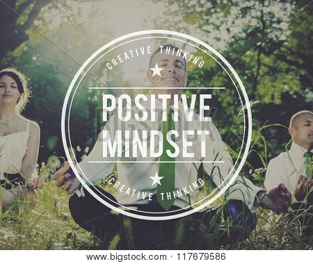 Positive Mindset Choice Thinking Conscious Focus Concept