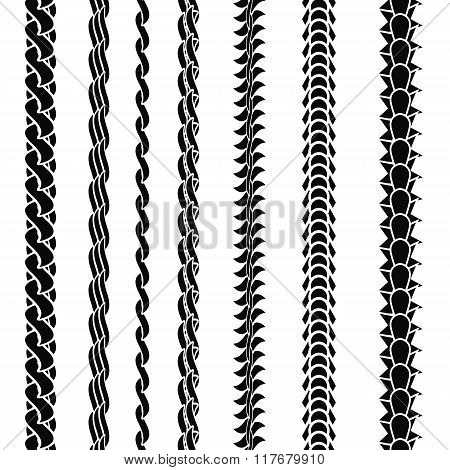 Set of Variety Chain Silhouettes