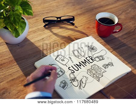 Summer Travel Relaxation Vacation Holiday Concept