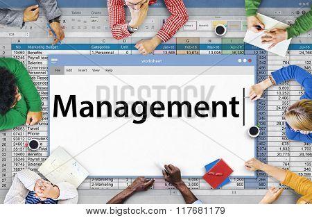 Management Organization Managing Controlling Concept