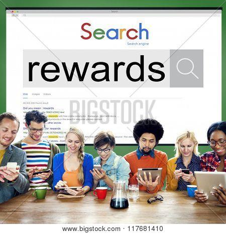 Rewards Benefit Bonus Finance Money Profit Salary Concept