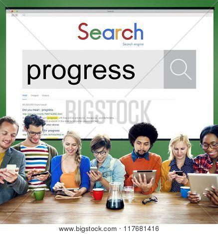 Progress Development Innovation Improvment Concept