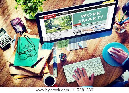 Working Work Smart Growth Development Passion Concept
