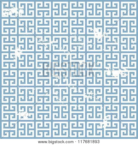 illustration of a grungy ancient greek pattern, eps10 vector