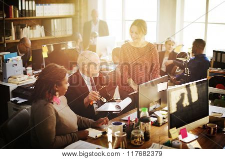 Business Marketing Team Discussion Planning Concept