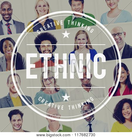 Ethnic Ancestral Community Diverse Humanity Concept