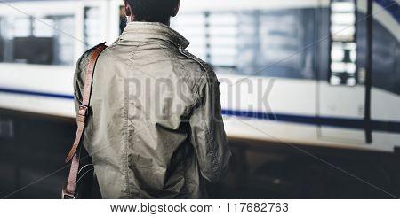 Businessman Waiting Passenger Concept