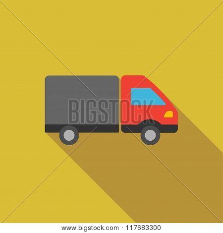 Shipment Flat Long Shadow Square Icon