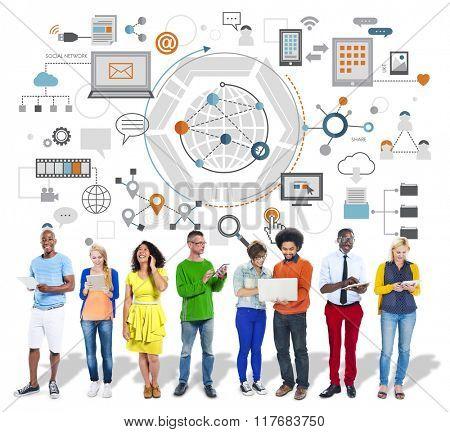 Global Communication Digital Device Information Concept